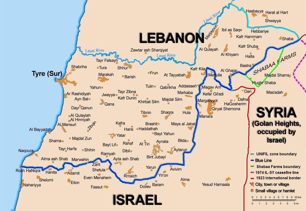 IN A NUTSHELL: LEBANON-ISRAEL