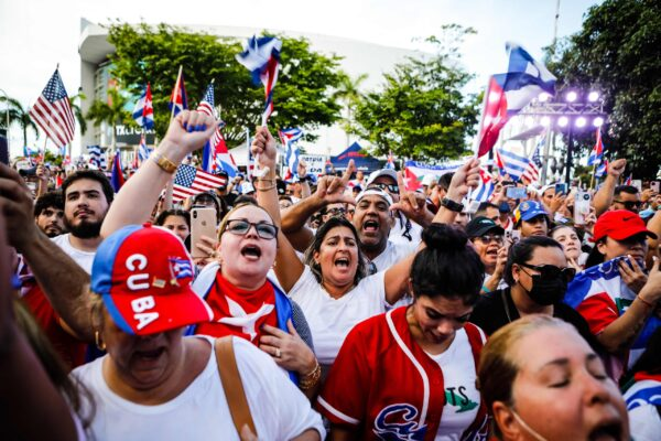 PROTESTS NOT SEEN FOR YEARS IN CUBA